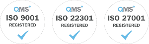 ISO 9001, 22301 & 27001 Certified